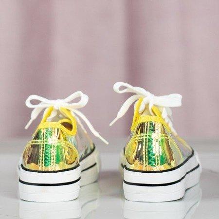 Żółte transparentne trampki Cosmo - Obuwie