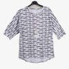 Biała tunika damska z napisami - Odzież