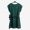 Ciemnozielona damska sukienka - Odzież