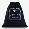 Czarny plecak typu worek z napisem - Plecaki