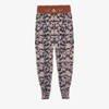 Granatowe alladynki w kwiatki - Odzież