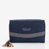 Mały granatowy portfel damski - Portfel